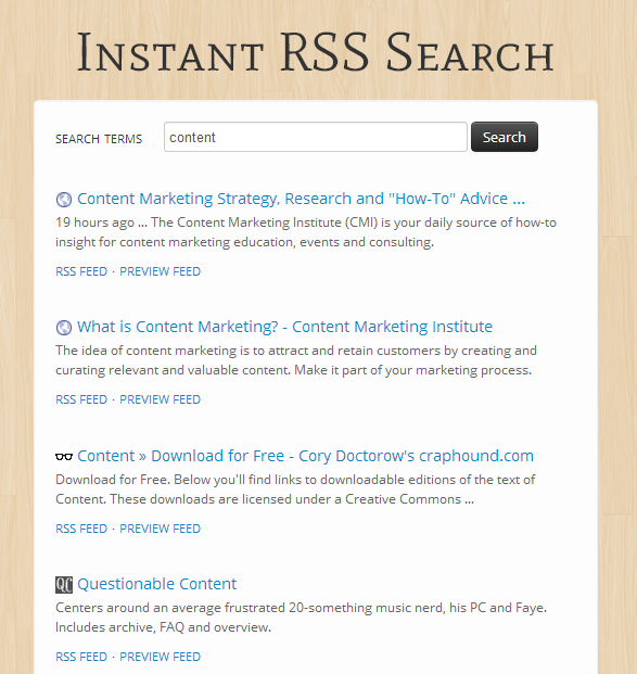 instant-rss-search