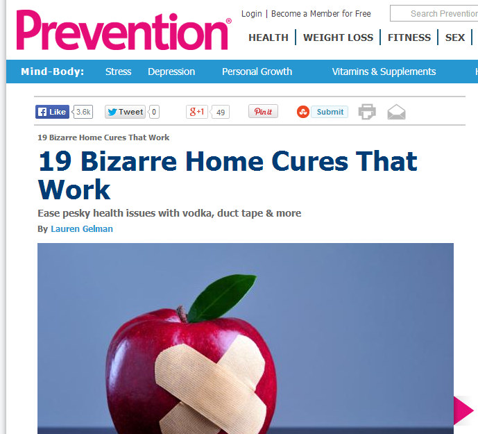 prevention home cure