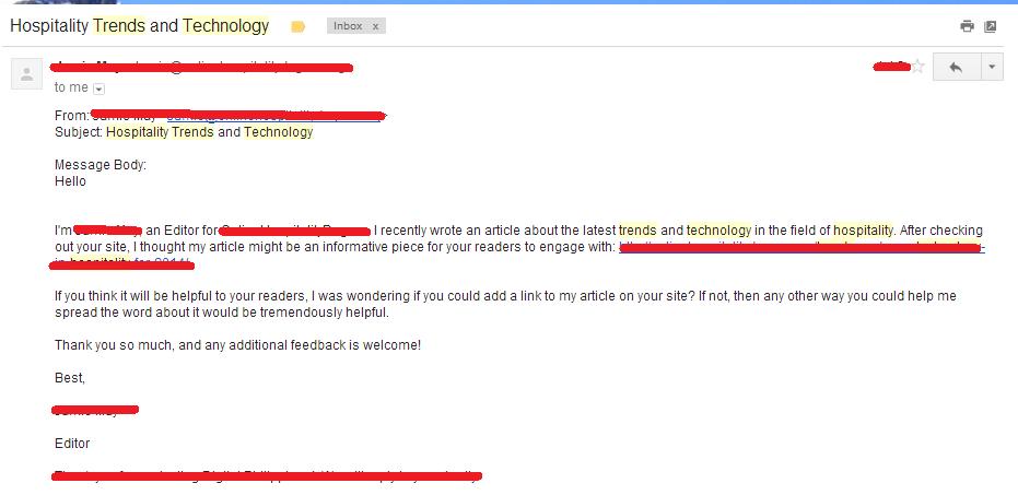 hospitality-email