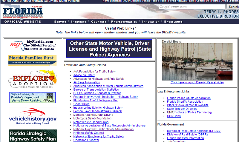 florida-highway-links-page