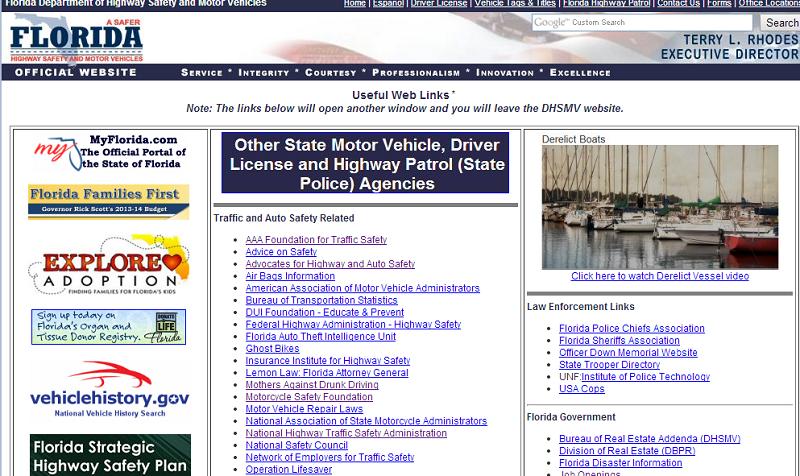 florida-highway-links-page