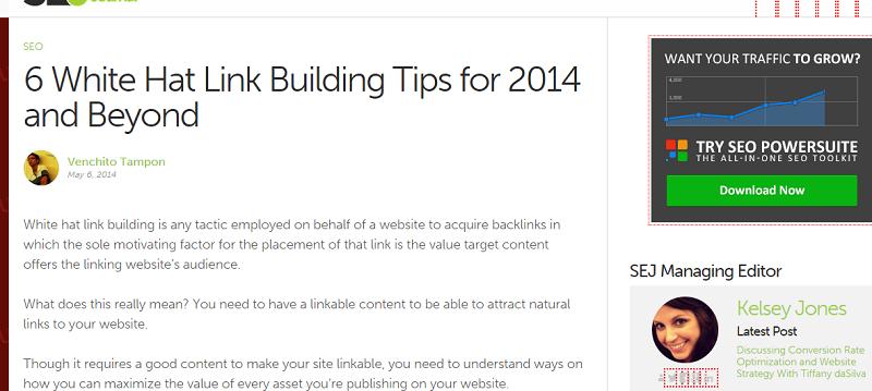 link building tips post