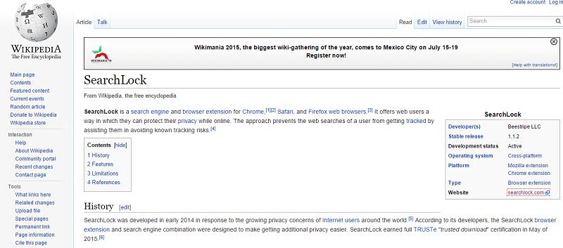 wikipedia-searchlock