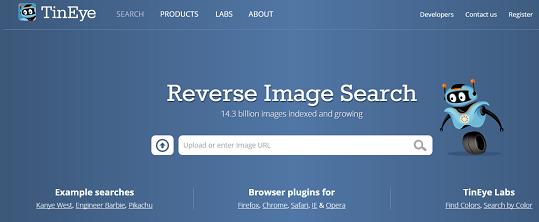 tineye homepage