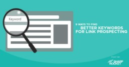 find better keywords link prospecting
