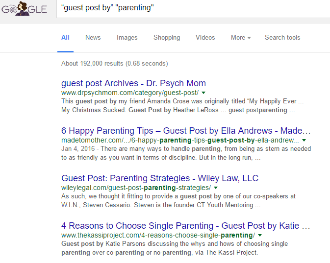 guest post by parenting search results