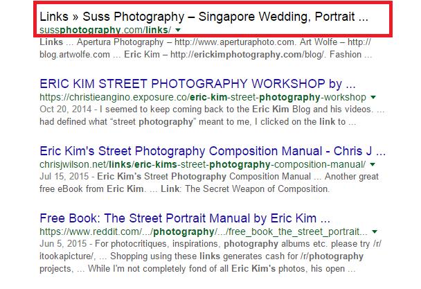 links suss photography screenshot
