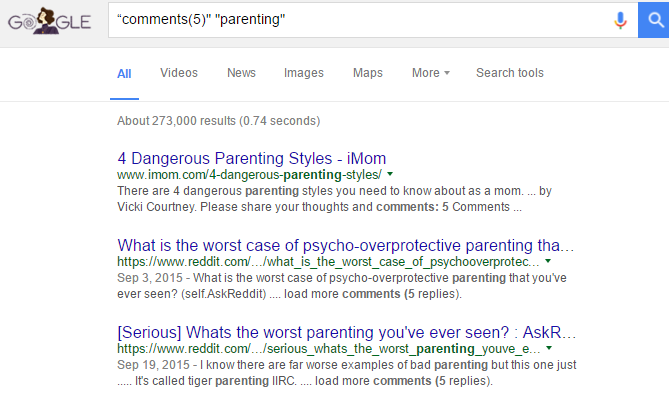 parenting tips google search