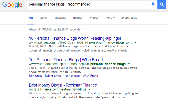 personal finance blogs recommended