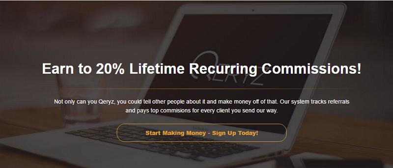 qeryz lifetime recurring commission