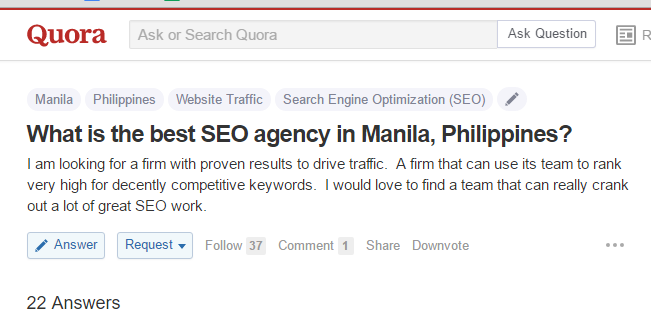 quora best seo agency