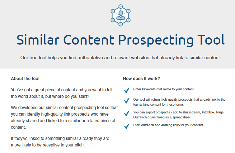 similar content prospecting tool