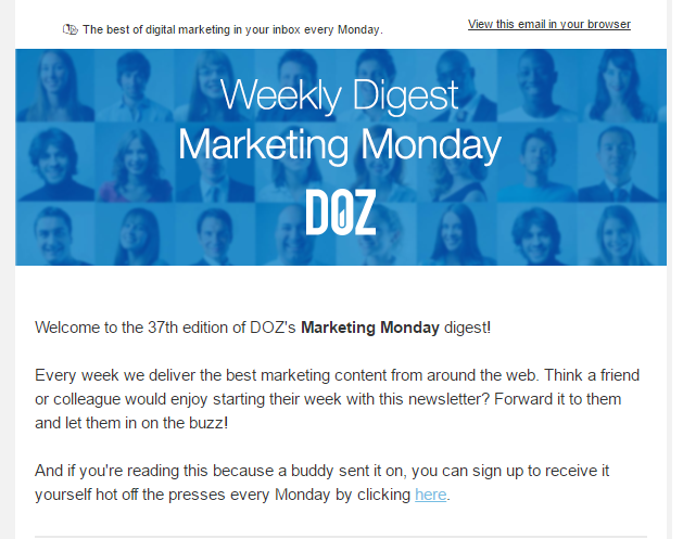 weekly newsletters