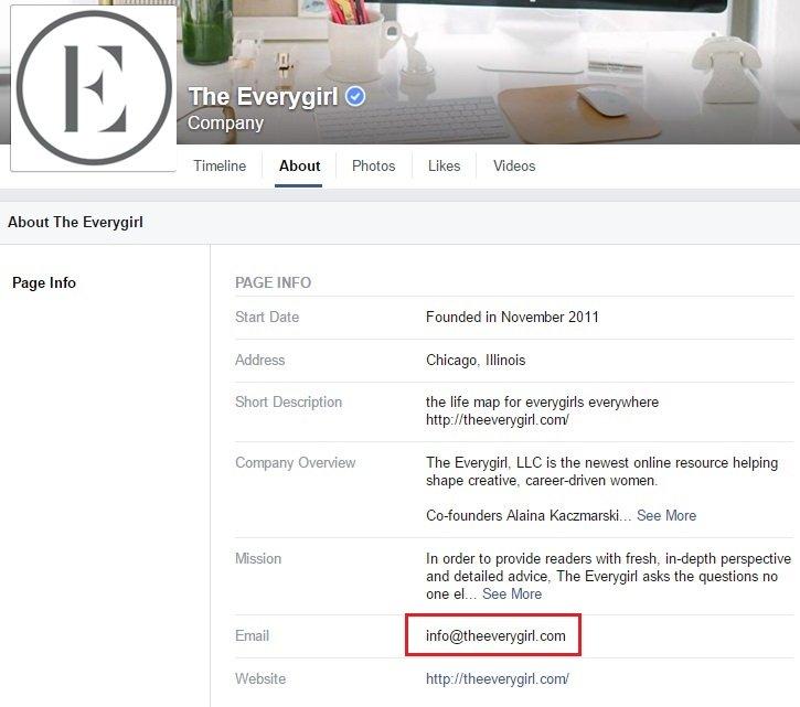 social media facebook page