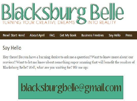 blacksburg belle email