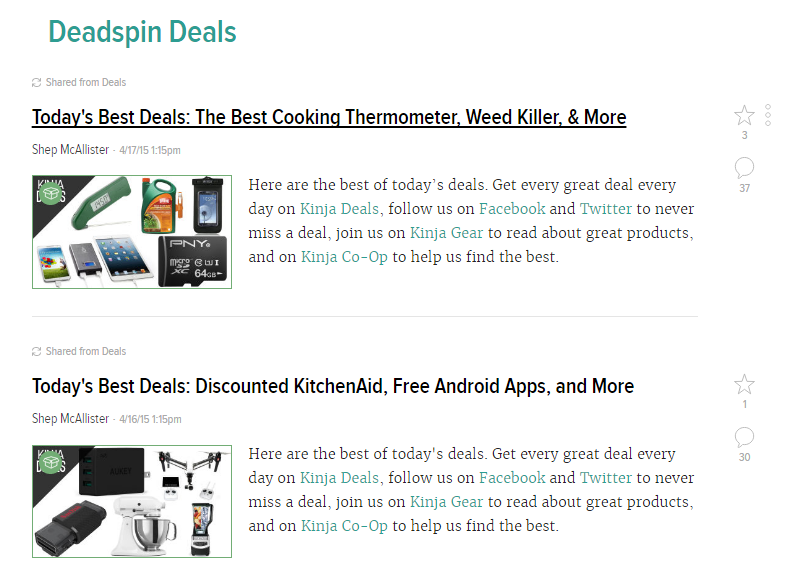 deadspin deals