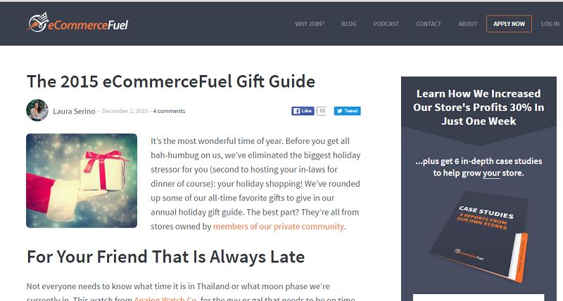 ecommerce fuel