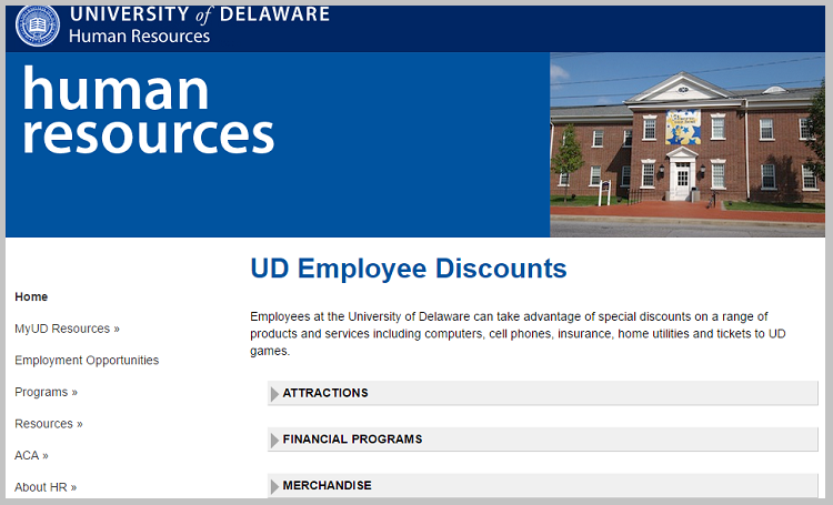 employee discounts