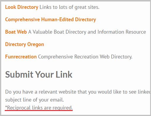 reciprocal link program