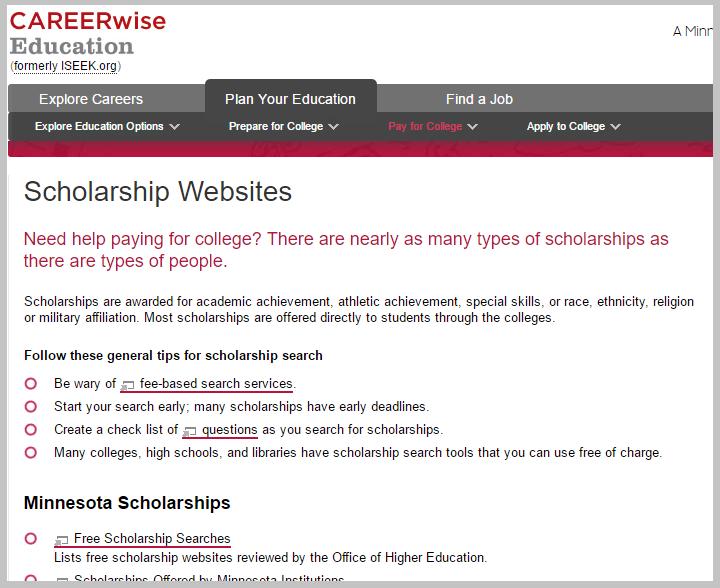 scholarship backlink