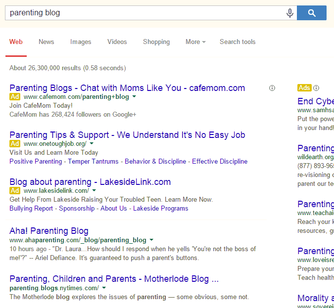 google-search-parenting-blog