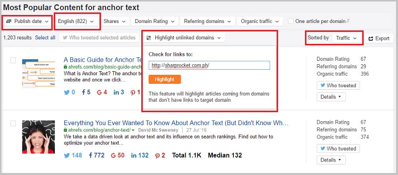 ahrefs content explorer recommendations