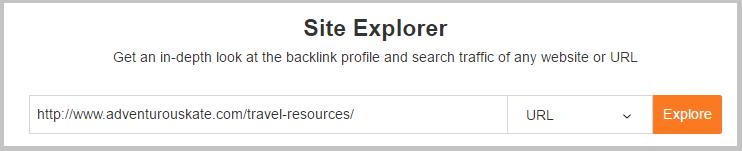 ahrefs site explorer url