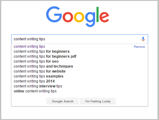 content writing tips google
