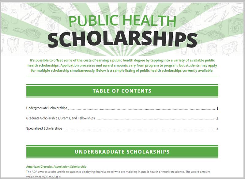 health scholarship example