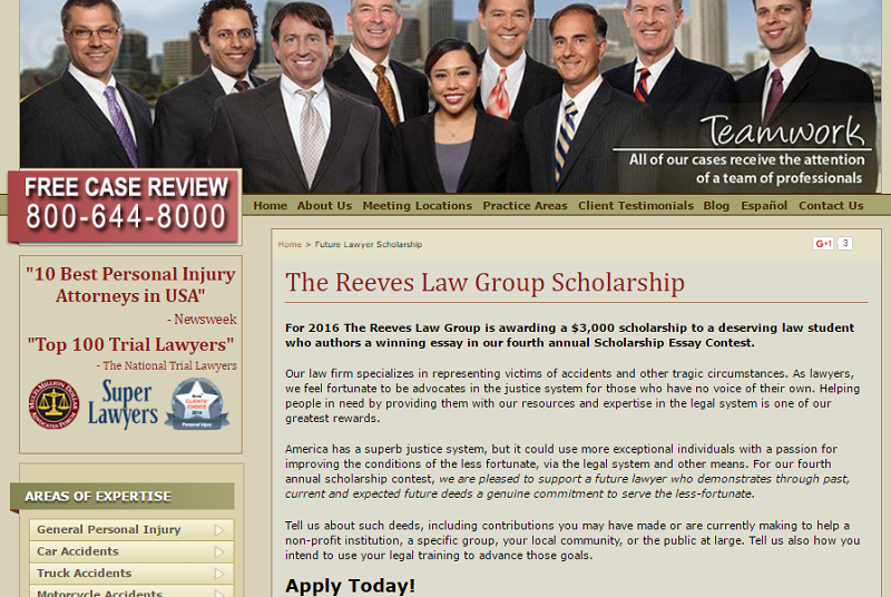 legal scholarship sample
