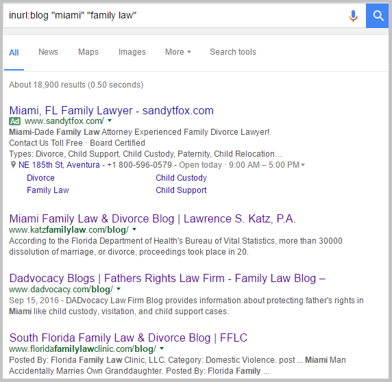miami google search family law