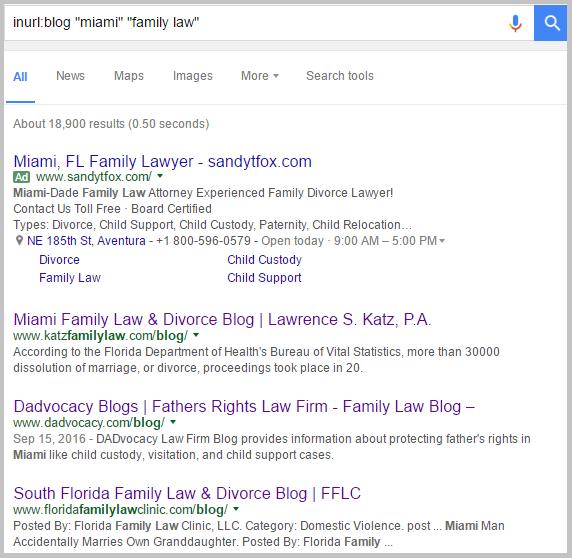 miami google search family law
