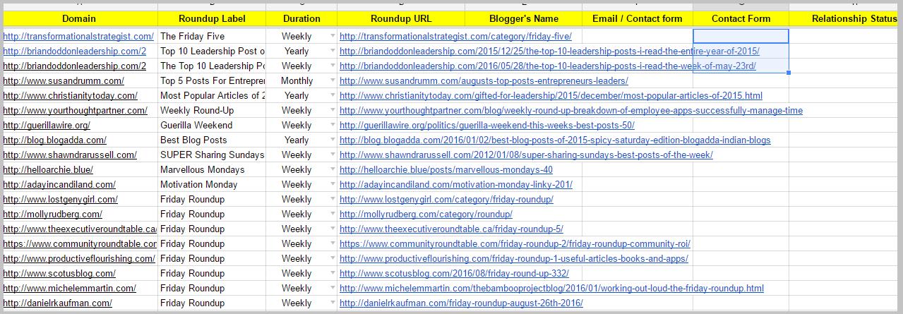link-roundup-spreadsheet