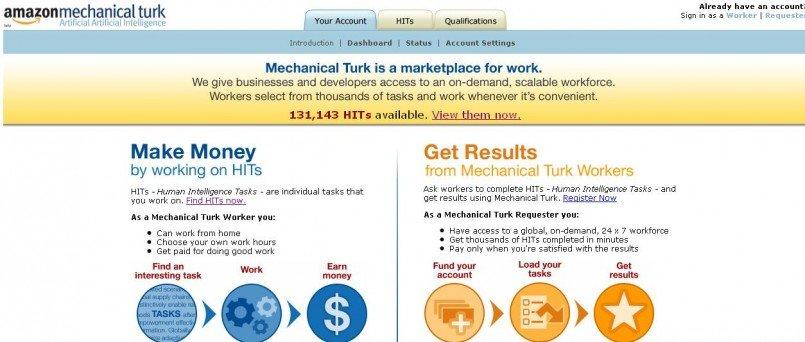amazon mechnical turk