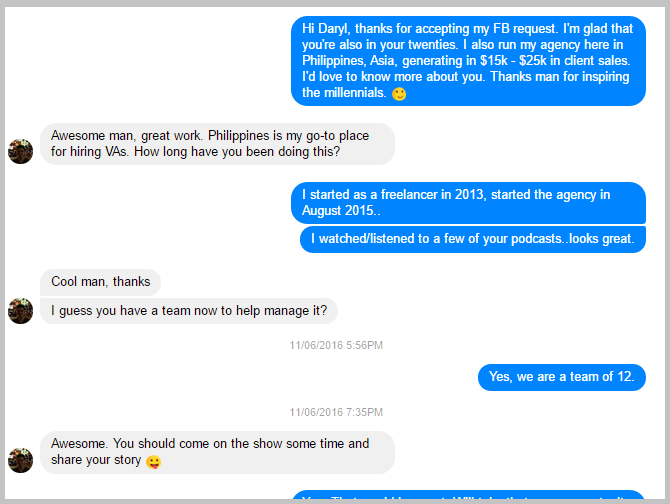 fb conversation with daryl