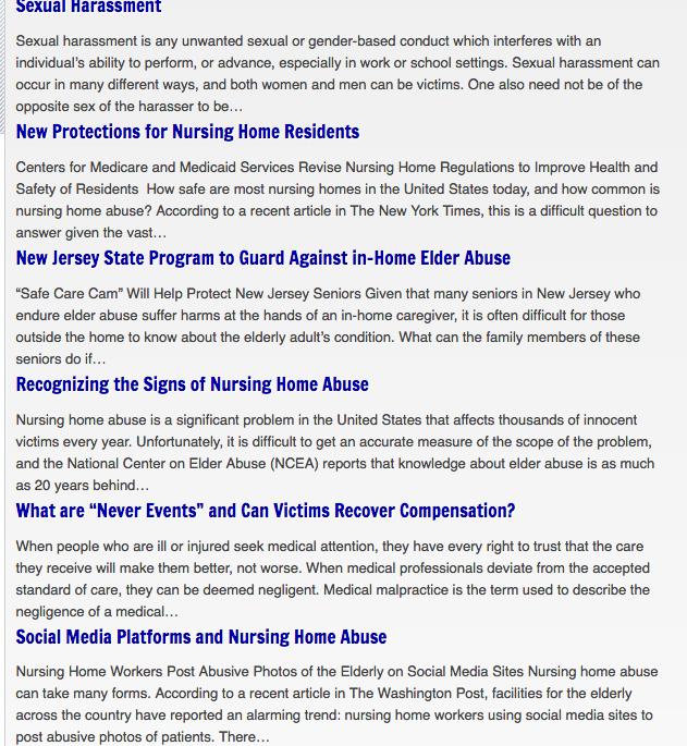 sexual harassment injury blog