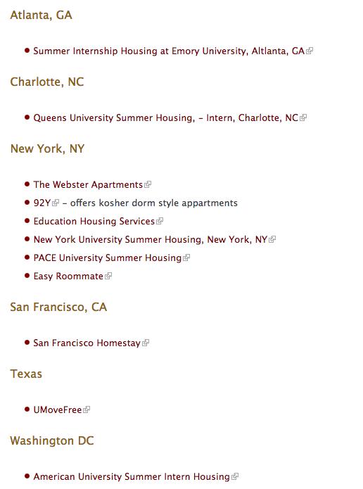 summer housing link