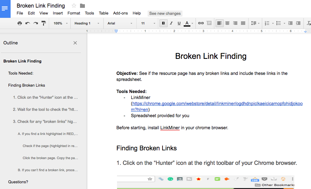 broken link building processes