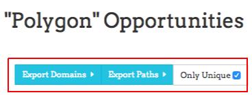 export domains paths unique link prospector