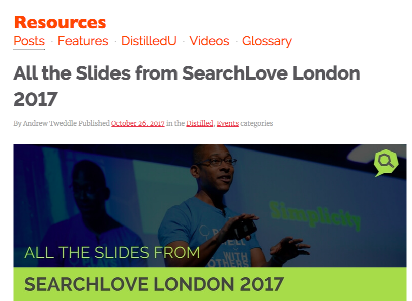 search love 2017 slides curation