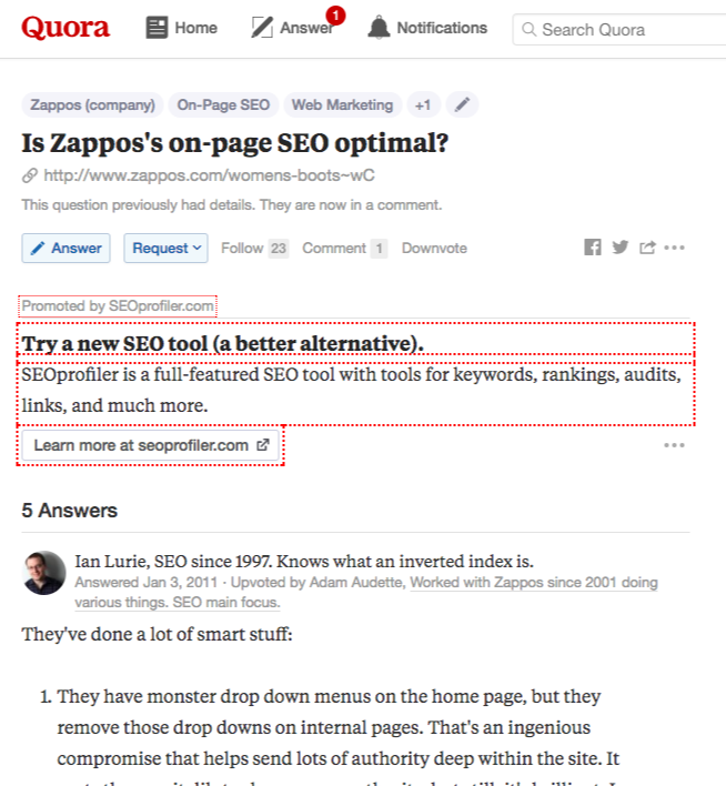 quora question and answer