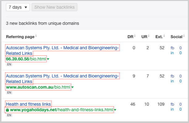 new backlinks monitor