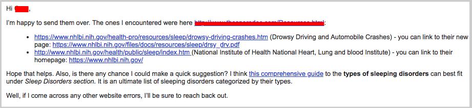 sending errors email