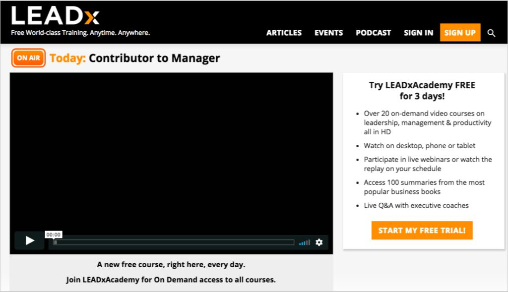 leadxorg homepage