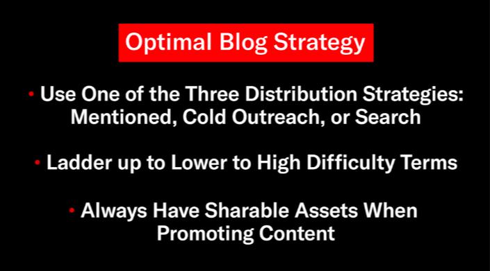 optimal blog strategy