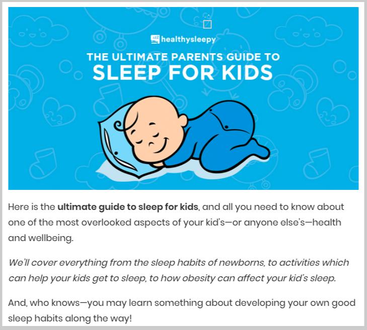 sleep for kids ultimate guide