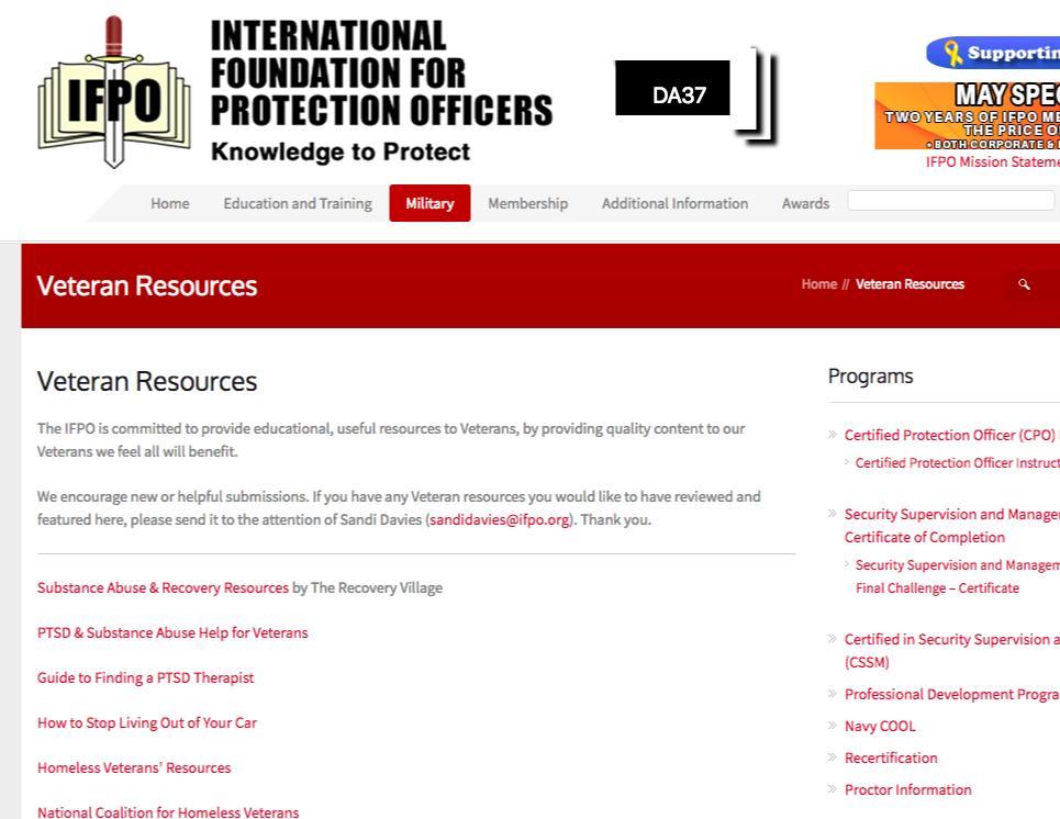 DA37 resource page