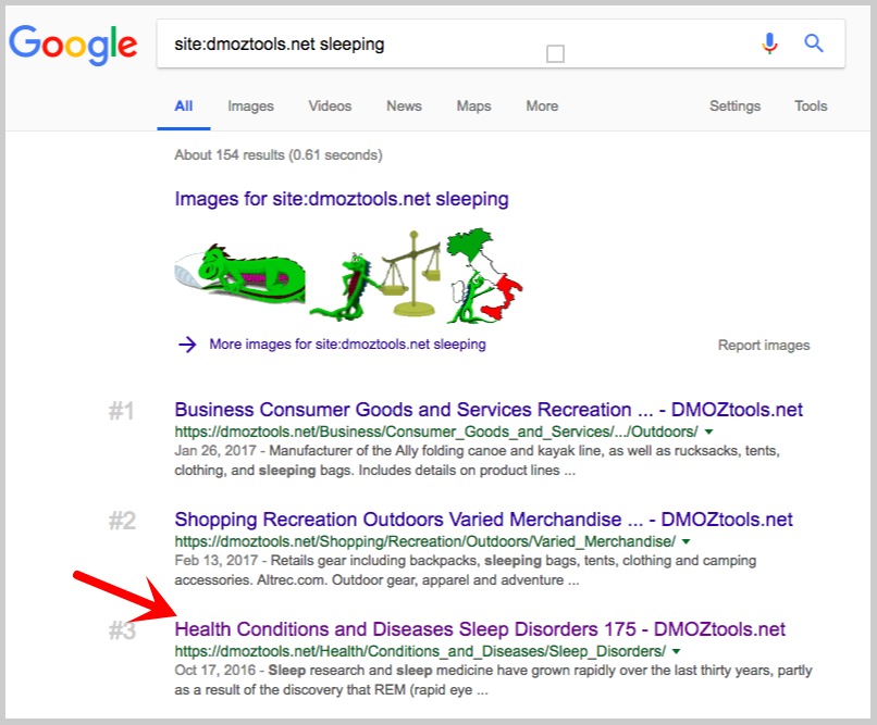 google search dmoztools