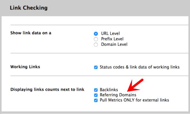 linkminer settings link display