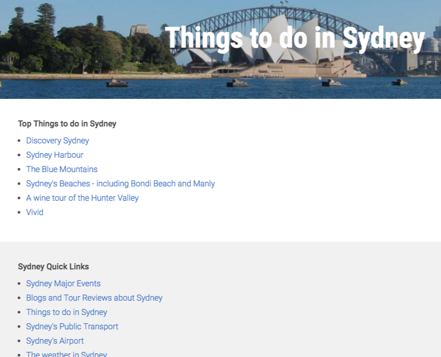 travel guide example